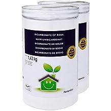 NortemBio Bicarbonato de Sodio 2x1.43kg, Insumo Ecológico de Origen Natural, Libre de