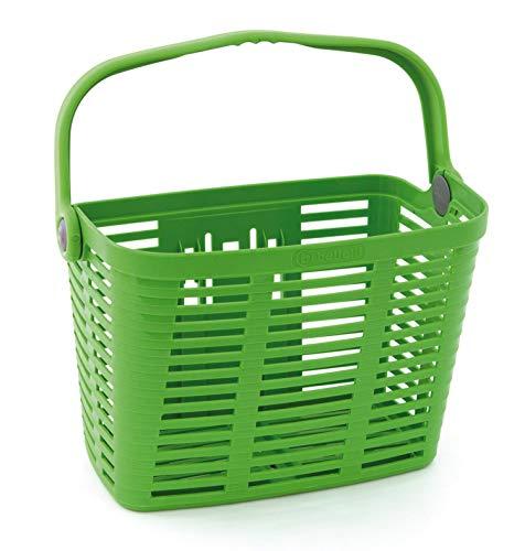 Plaza Fahrradkorb Lenkerkorb grün mit Quick-Clip Halterung 12l