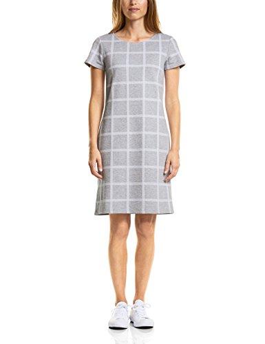 Street One A140698, Vestido para Mujer, Mehrfarbig (Moon Grey Melange 21423), 38 (Talla del Fabricante: 36)