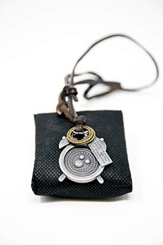 Cosplay Orwellian Accessories Steampunk-Accessoires, Zinn-Uhr, Steampunk-Halskette, Leder-Armband