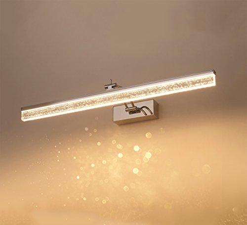 WYDM Geführte Blasenspiegel-Frontlampe führte Badezimmer-justierbares Badezimmer-Spiegel-Kabinett-Licht-Edelstahl wasserdichte Anti-Fog kosmetische Lampe (Size : 80cm) - Für Lichtbalken Badezimmer
