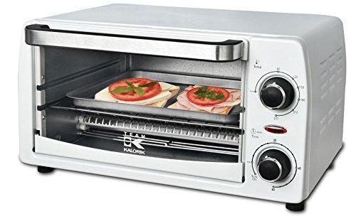TKG OT 1025 W Kalorik Miniofen für Pizza, Toast Hawaii und Baguettes, 9 L, 1050 W, weiß