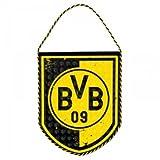 BVB 17100700 Schildwimpel mit Logo, Schwarz/Gelb, 20 x 30 x 1 cm