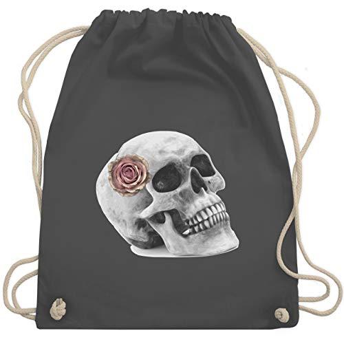Rockabilly - Totenkopf Rose Vintage Skull - Unisize - Dunkelgrau - WM110 - Turnbeutel & Gym Bag