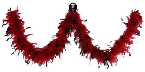 Zucker Feather (TM) - Chandelle Boas Tipped - Red/Black