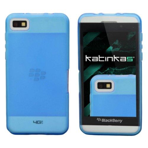 Katinkas - Carcasa blanda para Blackberry Z10, color azul