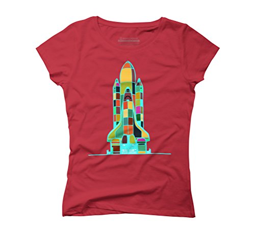 SpaceShuttle Women's Graphic T-Shirt - Design By Humans Red