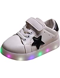 Highdas Cuero Niño Niña Prewalker Light Up Zapatos White EU 30