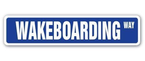 Lustige dekorative Schilder, Wakeboarding, Straßenschild, Surfer, Surf, Wake Board, Geschenk, aus Metall und Aluminium, Schild für Garage, Wohnzimmer