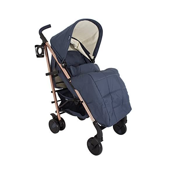 My Babiie Billie Faiers MB51 Rose Navy Stroller  Suitable from birth to maximum 15kg Extendable 3 position canopy Lockable swivel front wheels 3