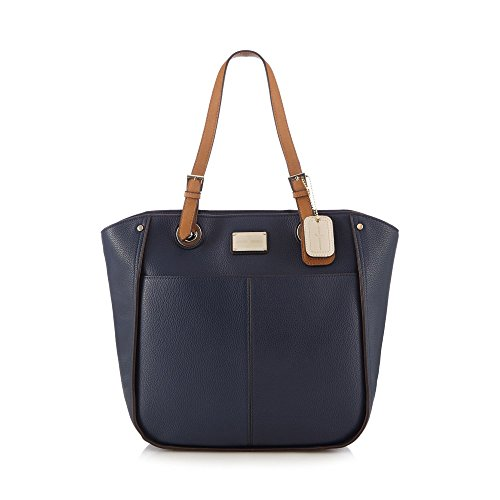 j-by-jasper-conran-womens-navy-enamel-plate-shoulder-bag