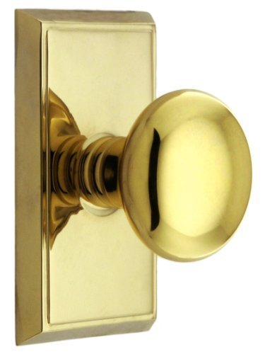 Providence Dummy (Providence Door Set With Round Brass Knobs Double Dummy In Polished Brass. Doorsets. by Emtek)