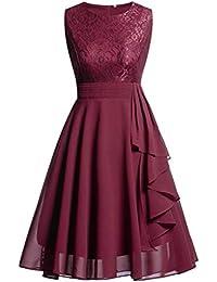 POLP Vestidos Largo Mujer ◉ω◉ Vestido Mujer Fiesta Verano Casual Vendaje en Cintura Alta
