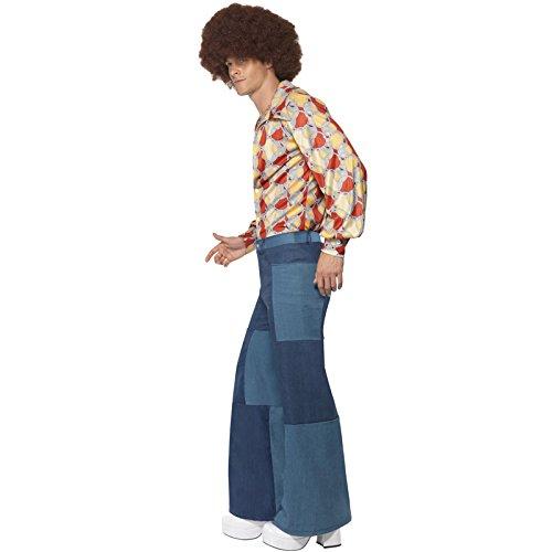 NEU Herren-Schlaghose Patchwork-Jeans-Look, Gr. (König Rocknroll Kostüme)