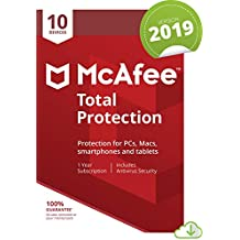 McAfee Total Protection 2019, 10 Device, 1 Year, PC/Mac/Android/Smartphones [Online Code]