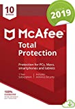 Picutre of McAfee Total Protection 2019, 10 Device, 1 Year, PC/Mac/Android/Smartphones [Online Code]