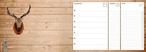 Notizblock 'Wochenplaner - Rotwild' | Schreibtischunterlage | Wochenkalender | 52 Blatt | 45 x 16 cm...