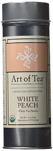 Art of Tea Organic White Peach Loose Leaf White Tea - 1.5oz Tin