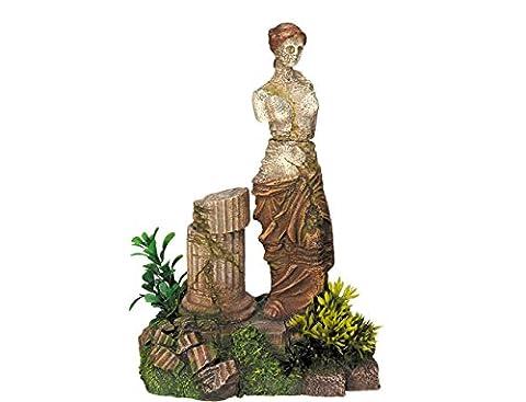 Nobby - Décoration pour aquarium - Avec plantes - Statue antique - 16 x 11 x 22,2 cm