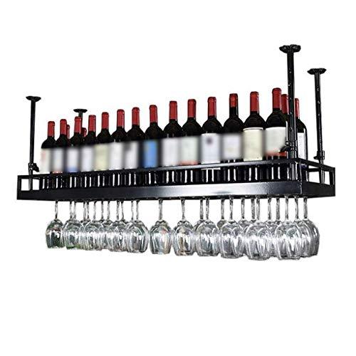DJSMjbj Weinregal Metall Wandmontage Decke Hängen Weinglas Rack Dekoration Regal Bar Restaurants Küche (Size : 80 * 35cm)