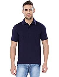 Krishnile Men Casual / Plain / Solid / Basic Cotton Short Sleeves Polo Neck T-Shirt