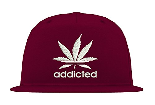 TRVPPY 5-Panel Snapback Cap Modell Addicted, Weiß-Burgundy, B610 - Tisa Hat