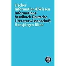 Informationshandbuch Deutsche Literaturwissenschaft