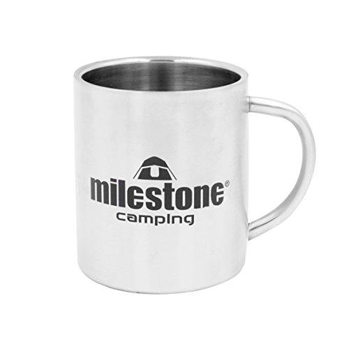 Milestone Camping Tasse en Acier Inoxydable Argentée, 0,3 Litre