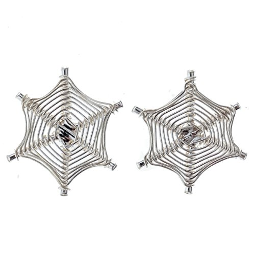 loveangel Schmuck 925Sterling Silber Filigran Spider Web Ohrstecker Halloween Party Schmuck Geschenke für Frauen (Web Kostüm Frau)