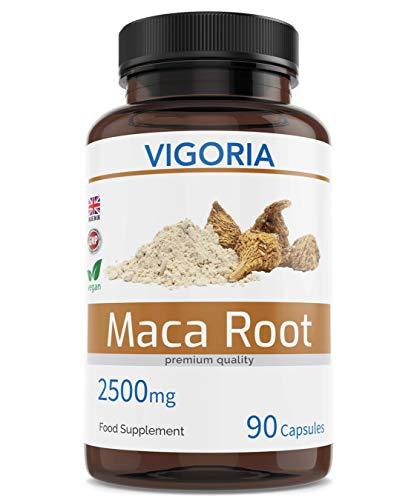 Maca Andina mejora los niveles de energía, resistencia, memoria - Da vitalidad a hombres y mujeres - 2500 mg 90 cápsulas Extracto natural 10:1 de polvo de pura raíz peruana - Vegan Sin OGM ni Aditivos