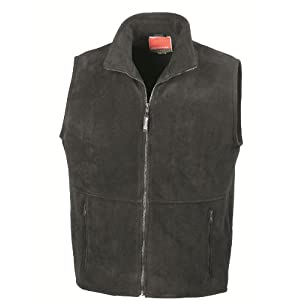"41ZNtQ2t04L. SS300  - RESULT ACTIVE FLEECE BODYWARMER GILET - 7 COLOURS (S-XXL) UNISEX (LARGE - 42/44"", BLACK)"