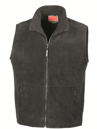 "41ZNtQ2t04L - RESULT ACTIVE FLEECE BODYWARMER GILET - 7 COLOURS (S-XXL) UNISEX (MEDIUM - 39/41"", BLACK)"