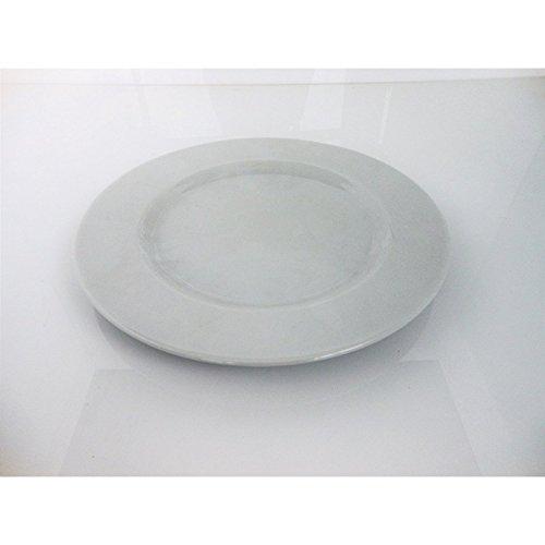 'fimel- Lot de 12 assiettes en porcelaine blanche, seriesaturnia Ischia \