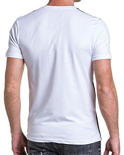 BLZ jeans - T-Shirt mit V-Ausschnitt weißen Mann Tarnung Weiß