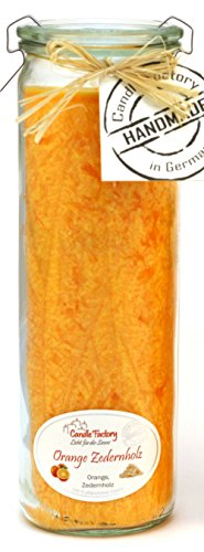 Candle Factory Kerze Big Jumbo Kerzen Windlicht Duft Orange Zedernholz 306081 -