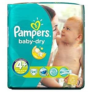 Pampers Baby Dry Size 4+ (9-20kg) Maxi Plus x 24 per pack by Pampers
