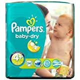 Pampers Baby Dry Maxi Plus Paquet de 24couches culottes Taille4 + (9-20kg)