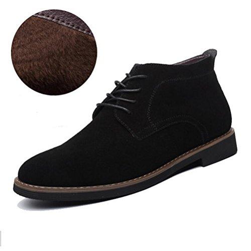 Vogstyle Herren Montacute Boots Kurzschaft Stiefel Schnürhalbschuhe Art 3-Fleece Schwarz