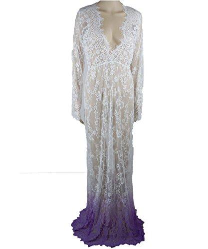 RMdress -  Vestito  - Camicia  - Donna Dip Dyeing Purple