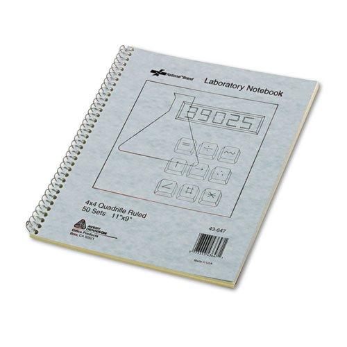 National 436471Durchschlag Lab Notebook Quadrille Rule 9x 11weiß/gelb 100Blatt