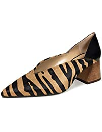 3e38474f4ef Uterque Women s Printed Leather mid Heel Court Shoes 4115 051