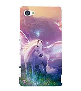 99Sublimation Horse with Wings 3D Hard Polycarbonate Back Case Cover for Sony Xperia Z5 Premium/ Premium Dual