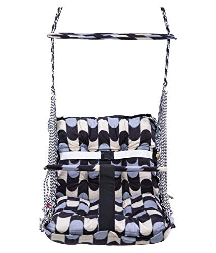 AKworam Cotton Swing for Kids Baby's Children Folding and Washable 1-3 Years with Safety Belt Home Garden Jhula for Babies for Indoor Outdoor(Multicolor)