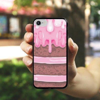 Apple iPhone X Silikon Hülle Case Schutzhülle Kuchen Torte Cake Hard Case schwarz