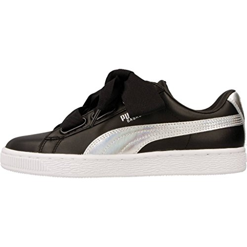 Puma Basket Heart Explosive Donna Sneaker Bianco Nero