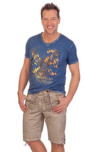 MarJo Leder & Tracht Trachten Jeansshorts - NELIO - Beige, Größe 50