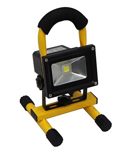 10w mobiler akku led strahler handlampe fluter. Black Bedroom Furniture Sets. Home Design Ideas