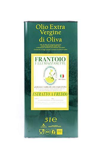5 litri olio extravergine d'oliva 100% italiano | frantoio f.lli mazzasette | provenienza tuscia viterbese
