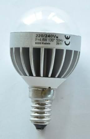 4.6W LED Golf Ball Mini Globle Lamp Light Bulb SES E14 Small Screw Cap Warm White 3000K