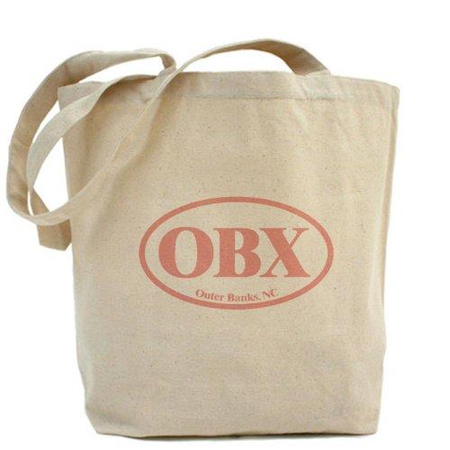 CafePress OBX Outer Banks NC Tragetasche, canvas, khaki, M -